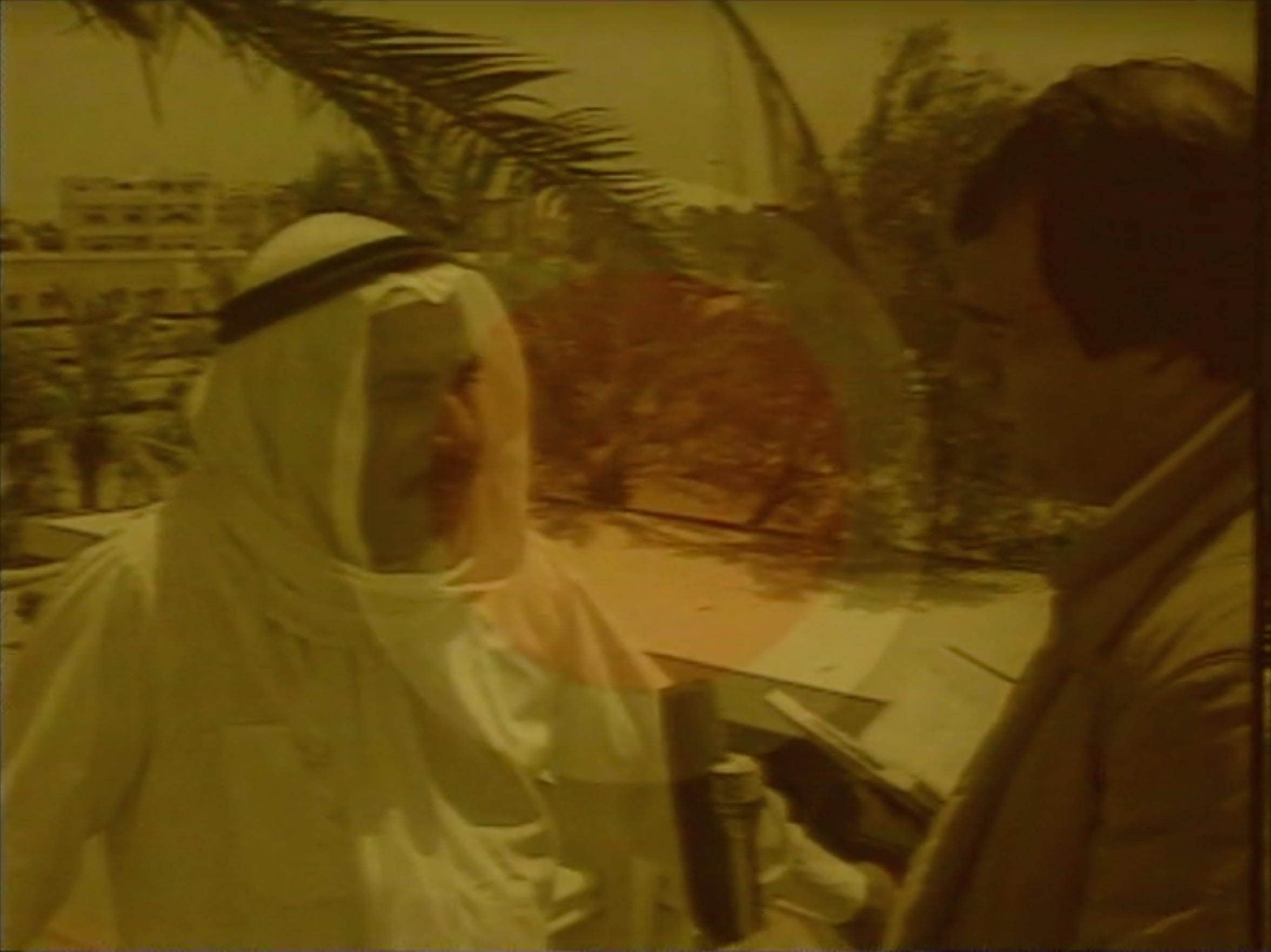 John Latham, still from The Gulf, video, 1984. From the series Targets, commissioned by Anna Ridley's Annalogue Productions for Channel 4 in as part of Dadarama. Courtesy Anna Ridley and the Artist (AND WHAT CAN WE SAY TO BE GOING ON NOW…?  0)