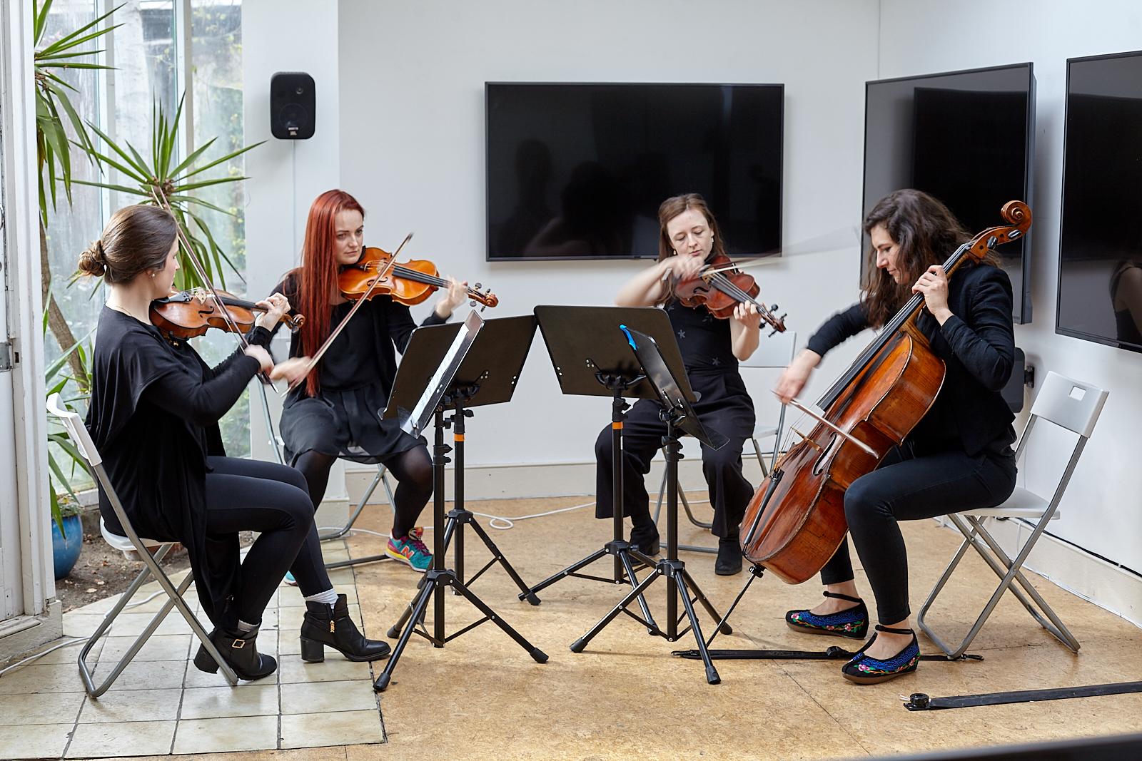 Annika Kahrs  String , 2019. Performed at Flat Time House (Annika Kahrs 10)