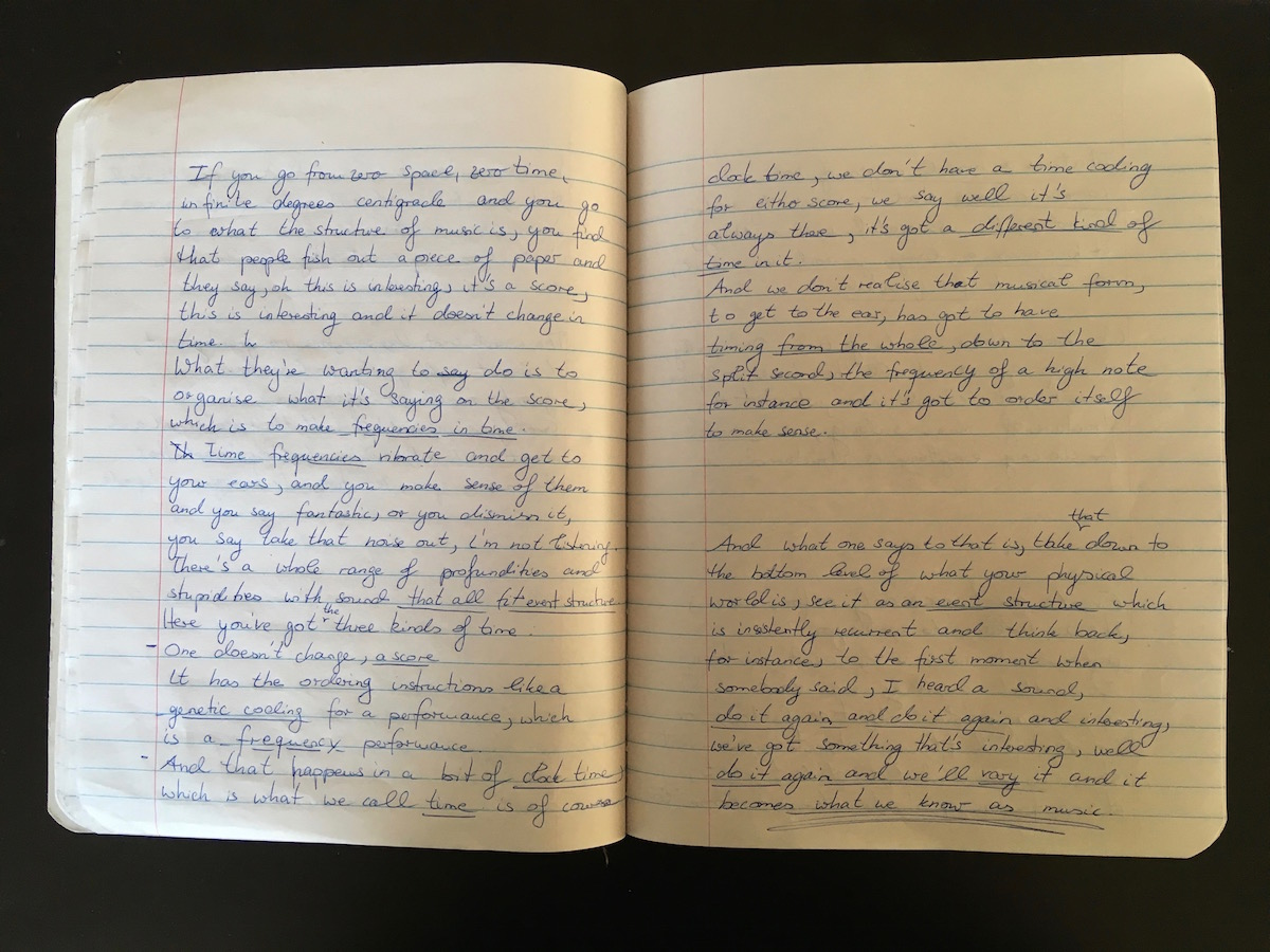 Annika Kahrs, Research for the billion year spree in personal notebook  (Annika Kahrs 11)