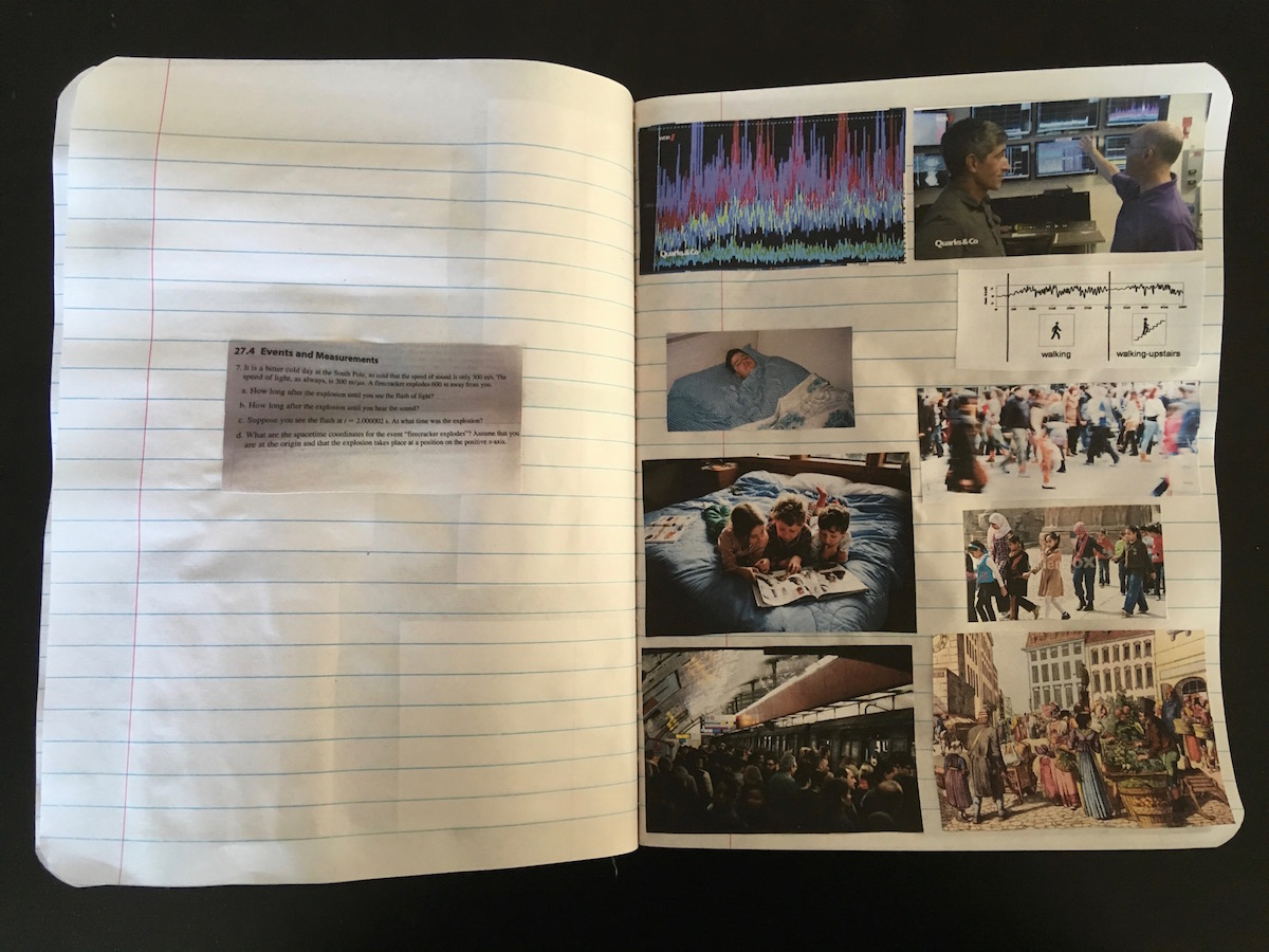 Annika Kahrs, Research for the billion year spree in personal notebook  (Annika Kahrs 10)