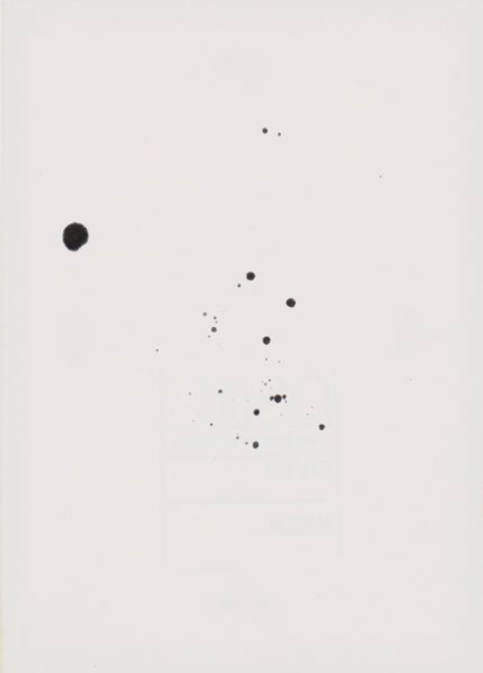 John Latham, One Second Drawing, undated  (EVEN DUST CAN BURST INTO FLAMES 2)