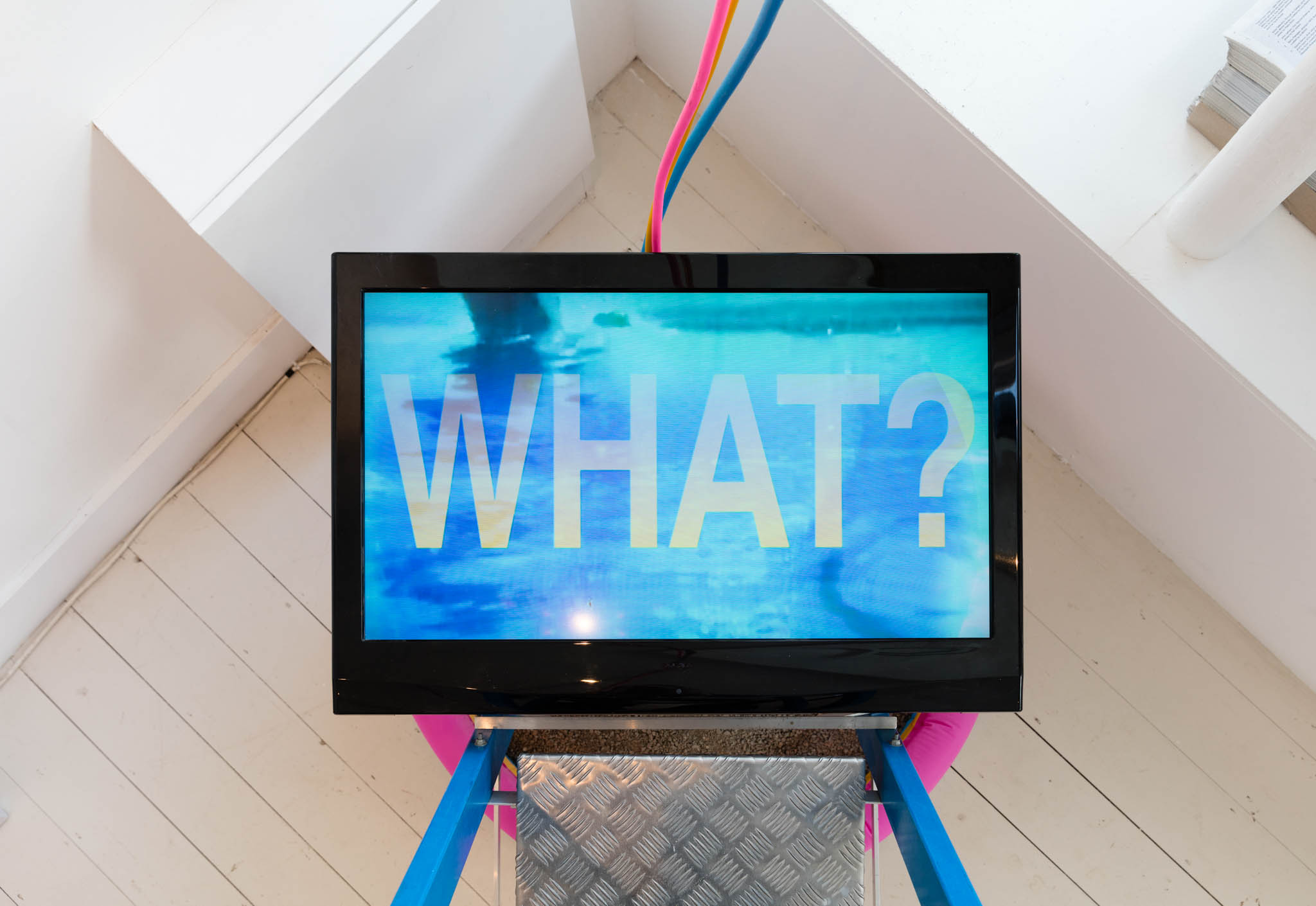 Heather Phillipson, Zero-Point Garbage Matte, 2012, exhibited in 2012 as part of the group show 'Eye Music for Dancing' and again in 2016 as part of 'The Shift: 8 Years of Flat Time House' (Flat Time House Closing Party 0)