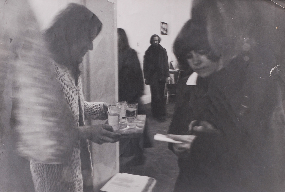 John Latham in Carlyle Reedy's 'Studio Room' at Gallery House, 1972  (ICONS OF A PROCESS 5)