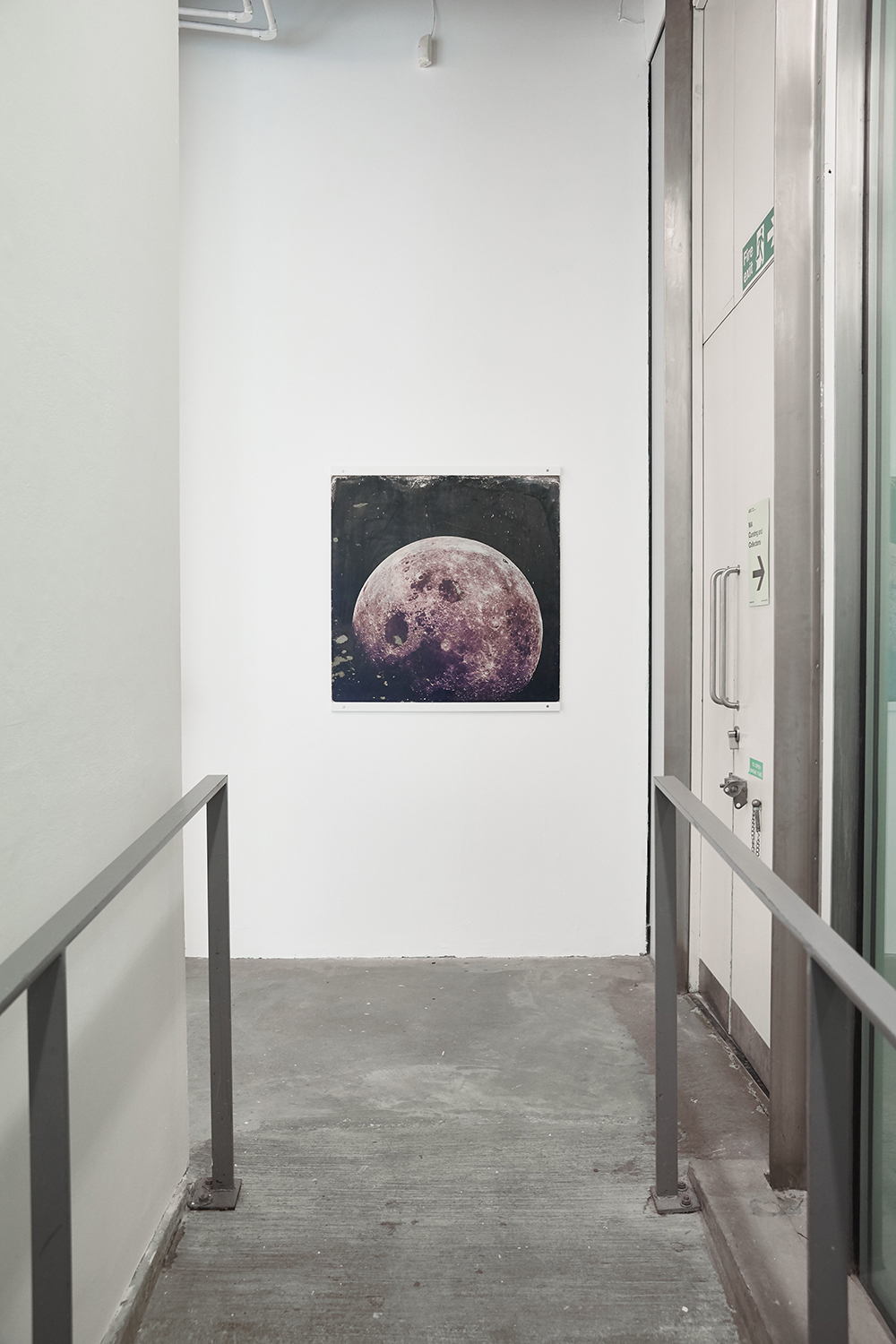 John Latham, moon photoboard, 1970s.  (OBSERVER: JOHN LATHAM AND THE DISTANT PERSPECTIVE 6)