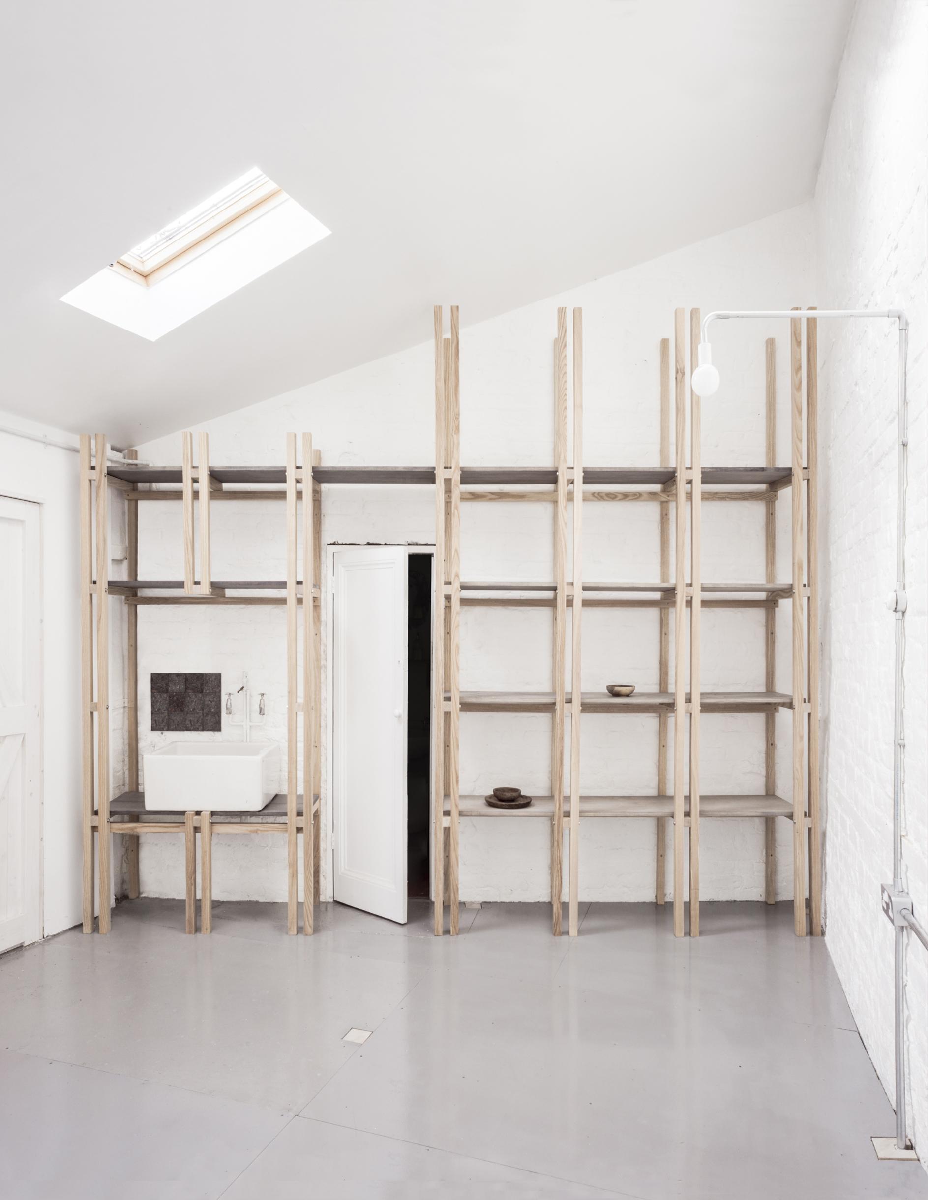 Newly designed artists studios by EBBA at Flat Time House photo: Lorenzo Zandri  (FLAT TIME HOUSE OPEN WEEKEND 2)