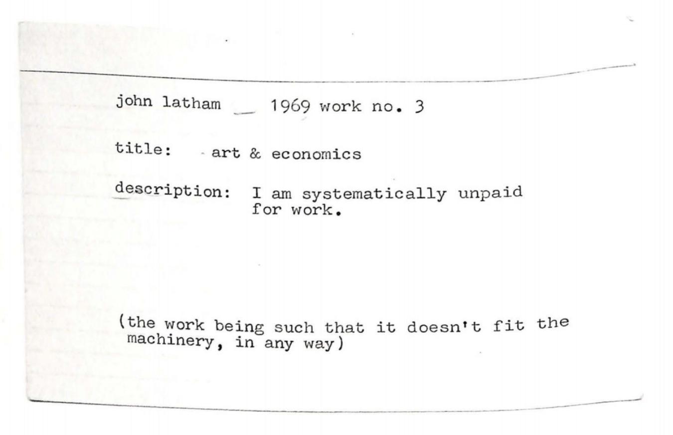 John Latham, Work No. 3, 1969 (OVERPRESENT 1)