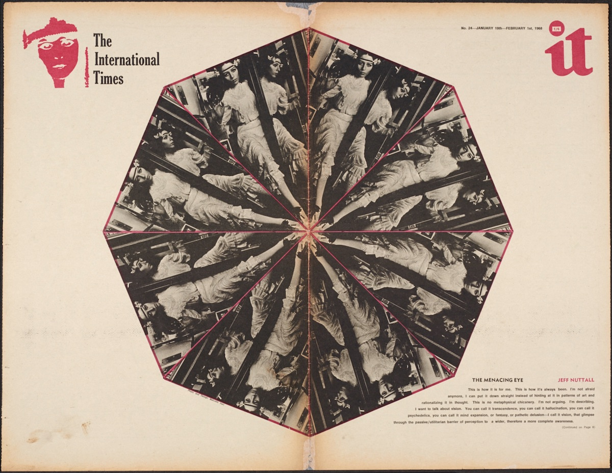 The Menacing Eye, Jeff Nuttall, International Times issue 24, 1968. (The Psychopathic Now! 0)