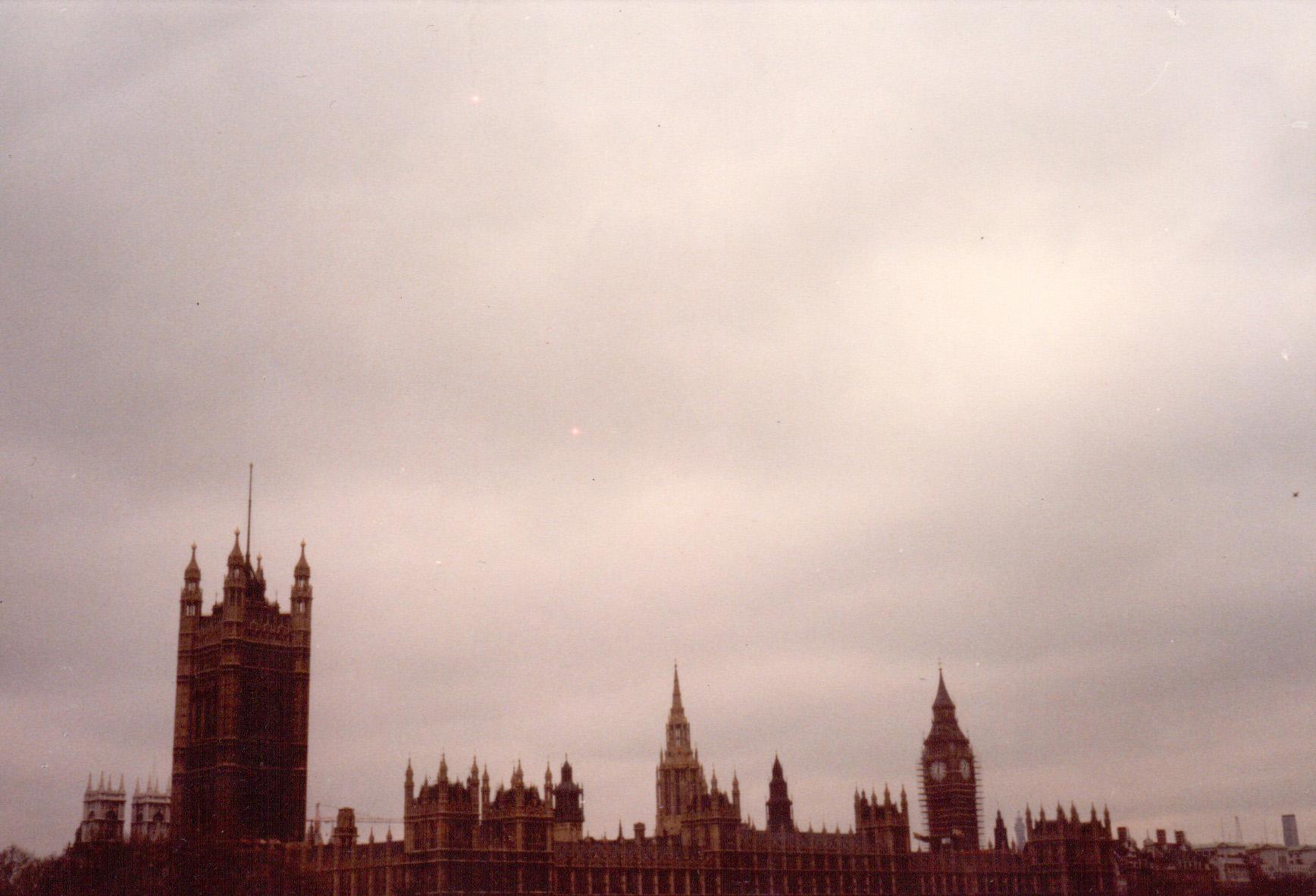 John Latham Distress over Parliament two marine distress flares, May 1, 1983 ( OFFSITE —  Distress Over Parliament  1)