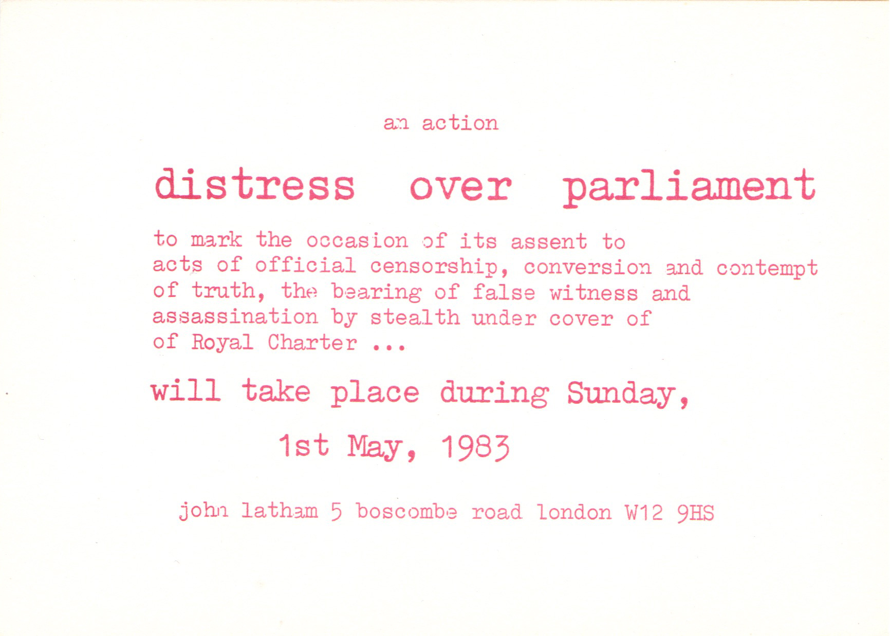 ( OFFSITE —  Distress Over Parliament  2)