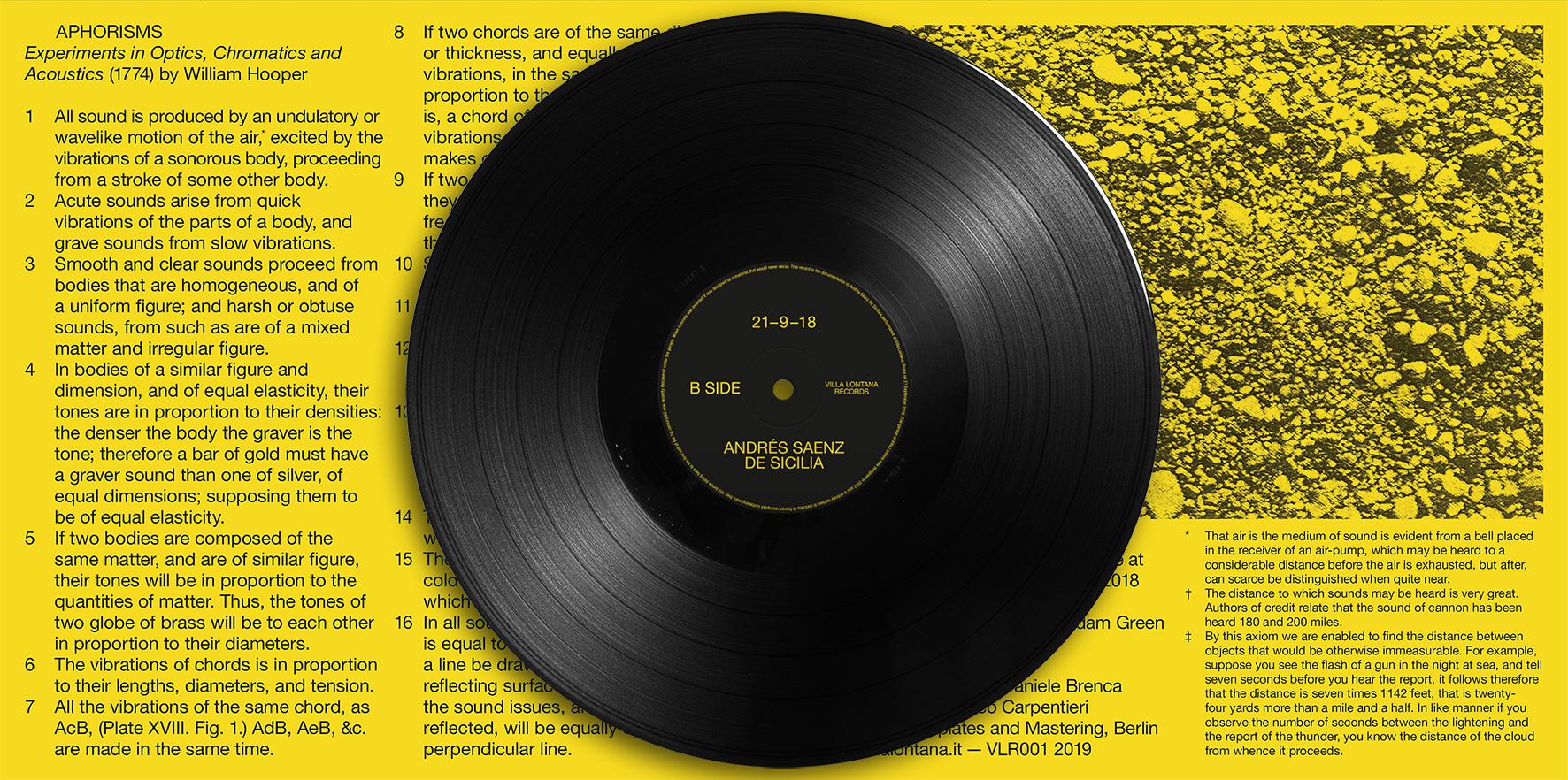 VILLA LONTANA RECORDS PRESENTS ANDRÉS SAENZ DE SICILIA 21 - 9 - 18